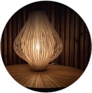Lampe de chevet à lumière tamisée