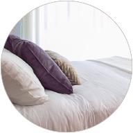 Linge de lit de couleur douce