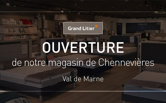 Nouvelle ouverture Grand Litier à Chennevières sur Marne (94)